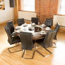 100 Large Dining Table With Chairs Luxury Round Elm Lazy Susan 8 Chairs 4110 Black