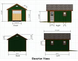 12x16 Storage Shed Plans by 12x16 Gable Storage Shed Plans With Roll Up Shed Door