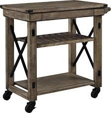 Amazon Ameriwood Home Wildwood Wood Veneer Multi Purpose Rolling Cart Rustic Gray Kitchen Dining