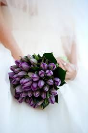 Purple tulip bouquet Wedding Bouquets Pinterest