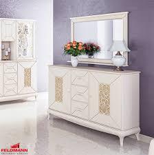 sideboard kommode anrichte wohnzimmer 3 d ornamente spiegel 164cm creme