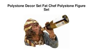 Polystone Decor Set Fat Chef Figure 10