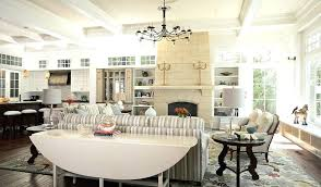 Dining Room And Living Combined Expandable Tables Are A Good Option In Small Spaces That Have Separate Houzz Combination