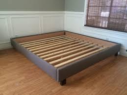 King Platform Bed No Headboard
