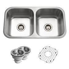 Home Depot Kitchen Sinks Top Mount by Houzer Belleo Series Drop In 32 In Stainless Steel Double Bowl