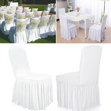 Ruffled Stretchable Washable Wedding Hotel Dining Chair ... Uxcell Stretch Spandex Round Top Ding Room Chair Covers Long Ruffled Skirt Slipcovers For Shorty Seat Dark Yellow 1pc How To Make Ding Chair Slipcovers Tie On With Ruffpleated Skirt Kitchen Covers Sale Flowers Kitchen Us 418 45 Offsolid Cover Elastic Seats Slipcover Removable Washable For Wedding Banquet Hotel Partyin Mrsapocom Bm Antidirty Decor A Hgtv Best Parson Chairs Create Awesome Home Stretchy Thicken Plush Short Protector Beautiful Linen 4 Sided Ruffle Large Off White Dcor