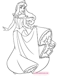 Download Coloring Pages Aurora Sleeping Beauty Printable 2 Disney Book