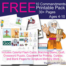 FREE Ten Commandments Bible Education Pack For Elementary Ages