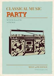 Vintage Classic Music Party Poster Design Template