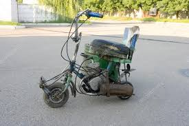 Scooter Homemade Stock Photo