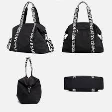 diinovivo حقيبة سفر كبيرة السعة من النايلون للنساء حقيبة حمل غير رسمية حقيبة كتف whdv1243