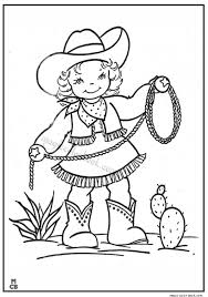 Little Cowgirl Cowboy Coloring Pages To Print Out
