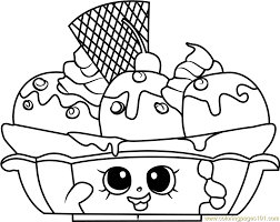 Banana Splitty Shopkins Coloring Page