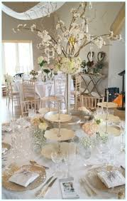 Cutlery Glasses Blossom Trees For Wedding Table Decoration Hire