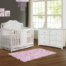 6 Drawer Dresser White by Storkcraft 2 Piece Nursery Set Princess Convertible Crib And