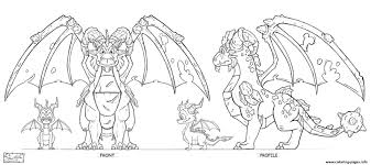 Dragon City Guardian Earth Ortho Coloring Pages Printable