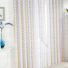 Grey And White Chevron Curtains by And Yellow Geometric Modern Chevron Curtains