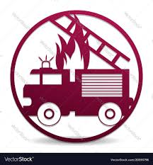 100 Fire Truck Template Truck In A Circle Royalty Free Vector Image