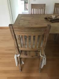 massivholz tisch und 4 stühle mit auflage in 14165