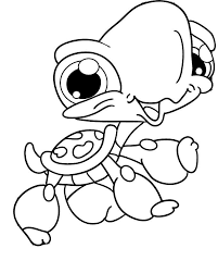 The Turtle Was A Baby Coloring Page