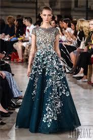 elegant georges hobeika dresses evening wear sleeves 3d floral