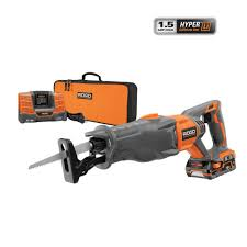 RIDGID X4 18 Volt Hyper Lithium Ion Cordless Reciprocating Saw Kit