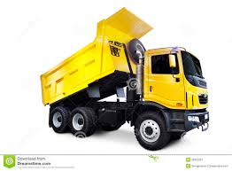 Yellow Dump Truck Stock Image. Image Of Machine, Dumping - 26953387