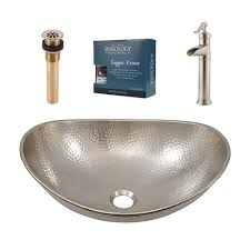 Where Are Decolav Sinks Made by Sinkology Pfister All In One Hobbes Design Kit Nickel Vessel Sink