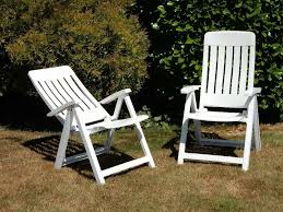 2 Folding Reclining White Plastic Garden Chairs | In Wimborne, Dorset |  Gumtree Set Of Four Stacking Garden Chairs And Matching White Folding Table In Cambridge Cambridgeshire Gumtree Modern Wooden Folding Director Or Garden Chair On A Background 7 Position Adjustable Back Outdoor Fniture Foldable Rattan Chairs With Foot Rest Buy White Canvas Rows Lawn Botanic Stock Close Up Slatted Wooden Chair Intertional Caravan Royal Fiji Acacia High Bluewhite Camping Wedding Rental Sky Party Rentals Vidaxl 2x Hdpe Balcony Seat 225