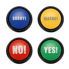 Hot Sale Christmas Board Games Gift 4pcs NO YES MAYBE SORRY Sound Button Event Game Party