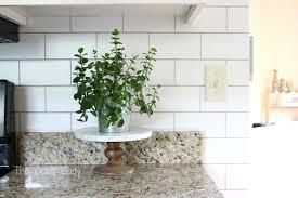 white subway tile temporary backsplash the tutorial the