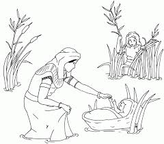 The Story Of Baby Moses Coloring Pages 177332