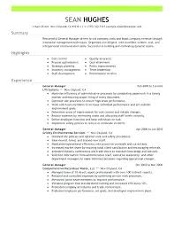 Example Of Cashier Resume Sample No Experience S General Manager