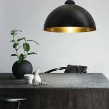 2x schwarz gold shade design pendelleuchte deckenleuchte