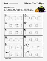 Halloween Multiplication Worksheets Grade 4 by Lory U0027s 2nd Grade Skills Halloween Math Story Problems