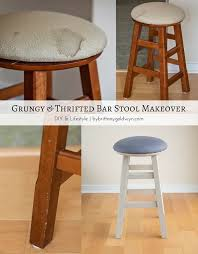 Americana Decor Chalky Finish Paint Lace by See How I Made Over This Grungy Craigslist Bar Stool Using