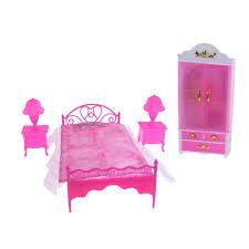 6pcs puppenhaus miniatur schlafzimmer möbel bett schrank kleiderschrank tischle