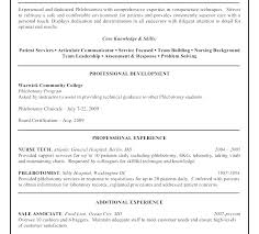 Nurse Tech Resume Sample Computer Technician Job Certified