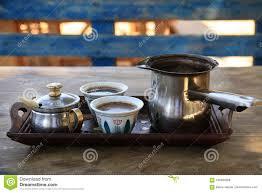 Download Turkish Coffee Setting In Lebanon Stock Image
