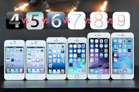 iPhones pared on Original iOS Versions iOS 4 vs 5 vs 6 vs 7