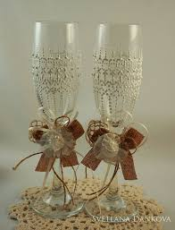 Gold Wedding Champagne Flutes Glasses Gatsby Style Toasting