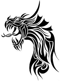 Dragon Sword Tribal Tattoo Design