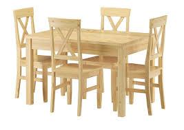 sitzgarnitur mit tisch und 4 stühle kiefer massivholz vollholzmöbel 90 70 51 c set 23
