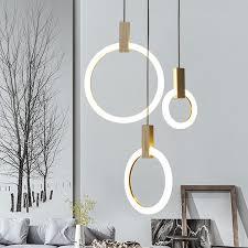 großhandel moderne led kronleuchter wohnzimmer holz lichtleitringen befestigungen treppen hängeleuchten acryl pendelleuchten schlafzimmer leuchten