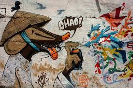 Download Beautiful Colorful Graffiti Art Vietnam Street Editorial Stock Photo