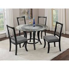 kitchen table round 5 piece sets granite wrought iron 4 seats