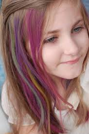 This Little Girl Is Rocking Temporary Hair Color Do You Know What All The Different
