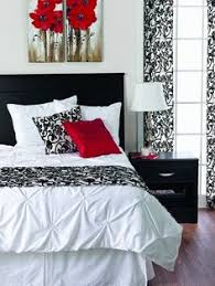 The Chic Technique Black White And Red Bedroom