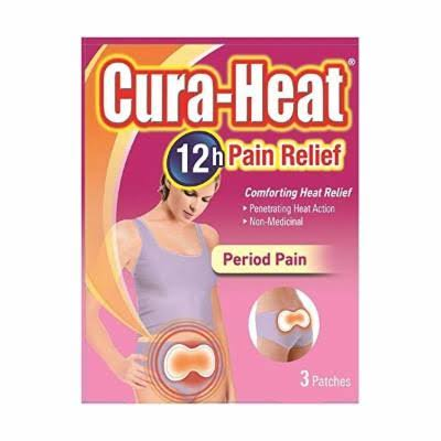 Cura-Heat Period Pain Relief - 3 Patches