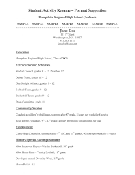 Wht Does Resume Look Like For Highschool Student A